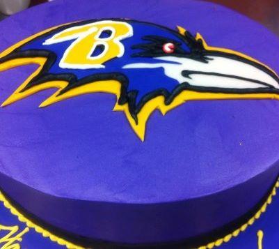Ravens Logo Cake