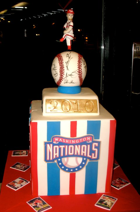 Nationals Baseball Cake
