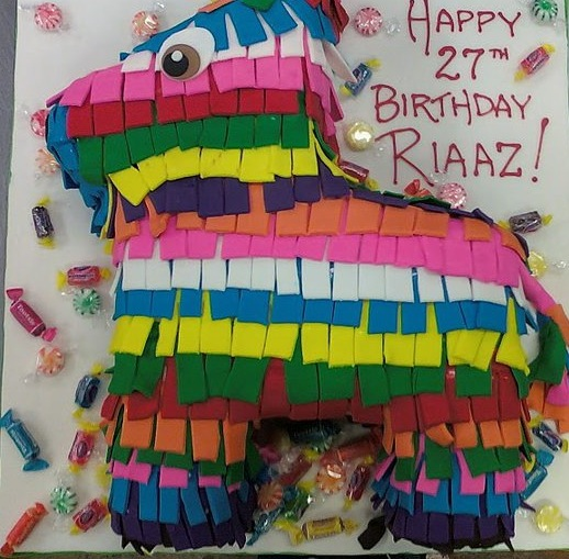 Colorful Pinata Cake
