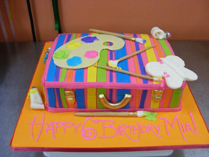 Paint pallet cake