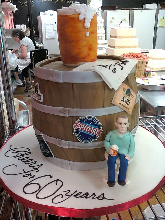 Beer barrel cake