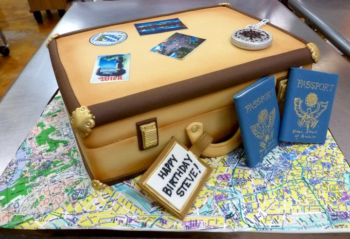 Travel Luggage Birthday Cake