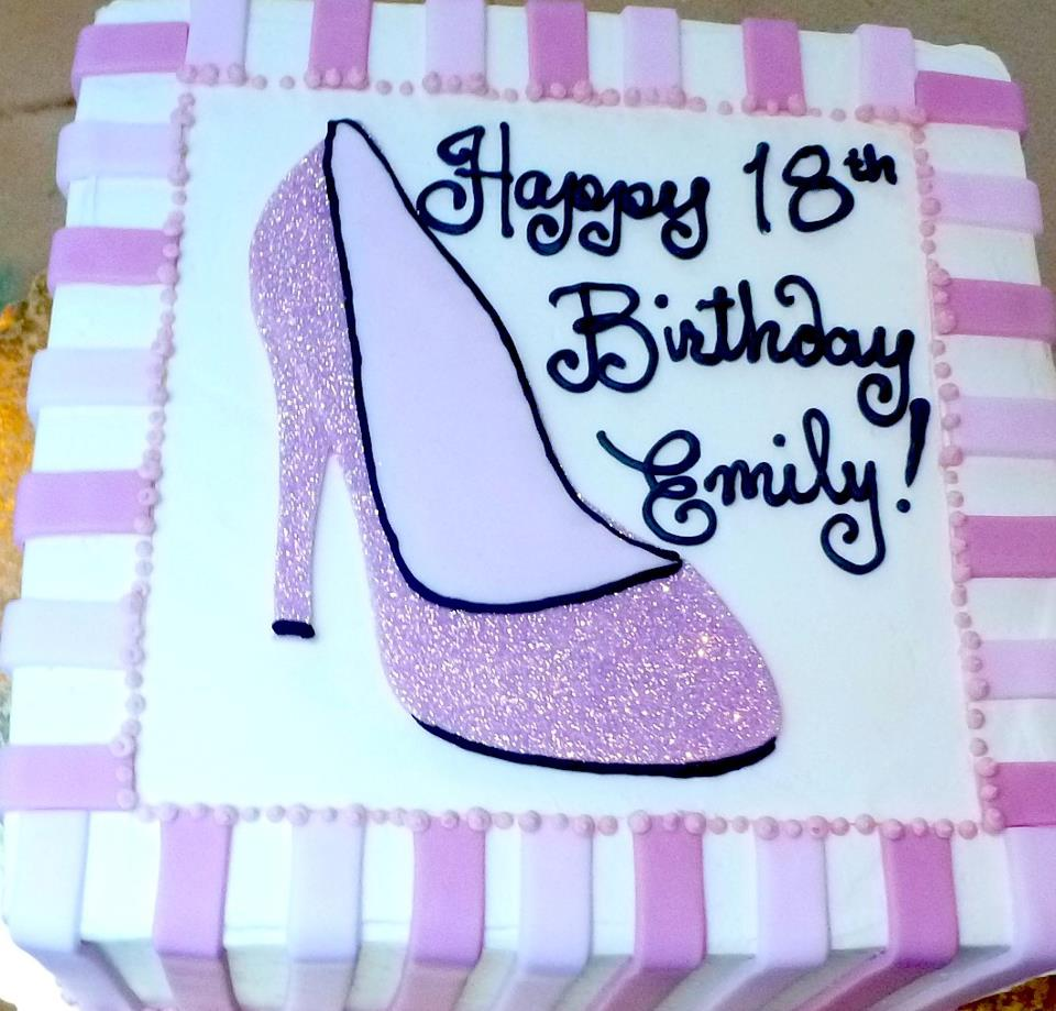 Pink High Heel Birthday Cake