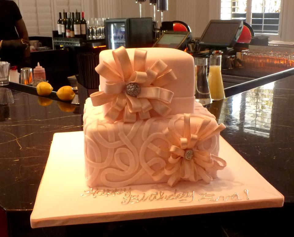 Pink Ribbon Shimmer Cake