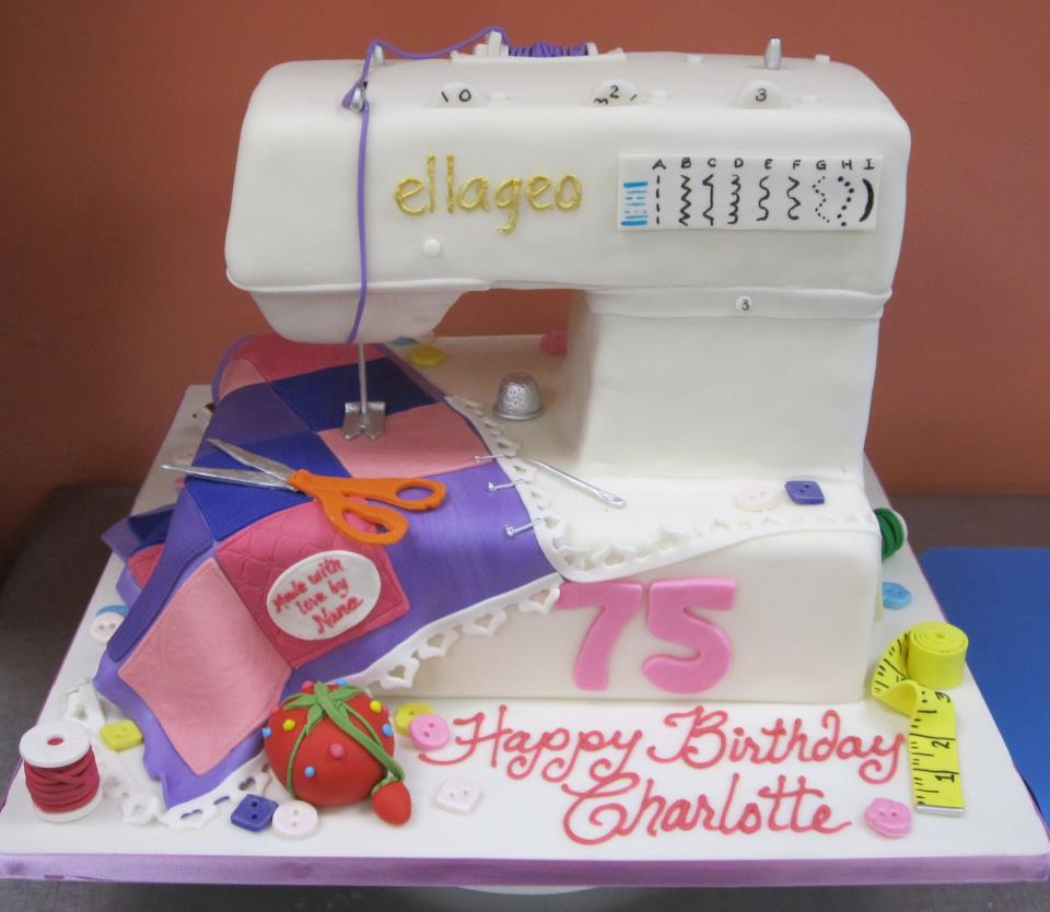Sewing Machine Birthday Cake