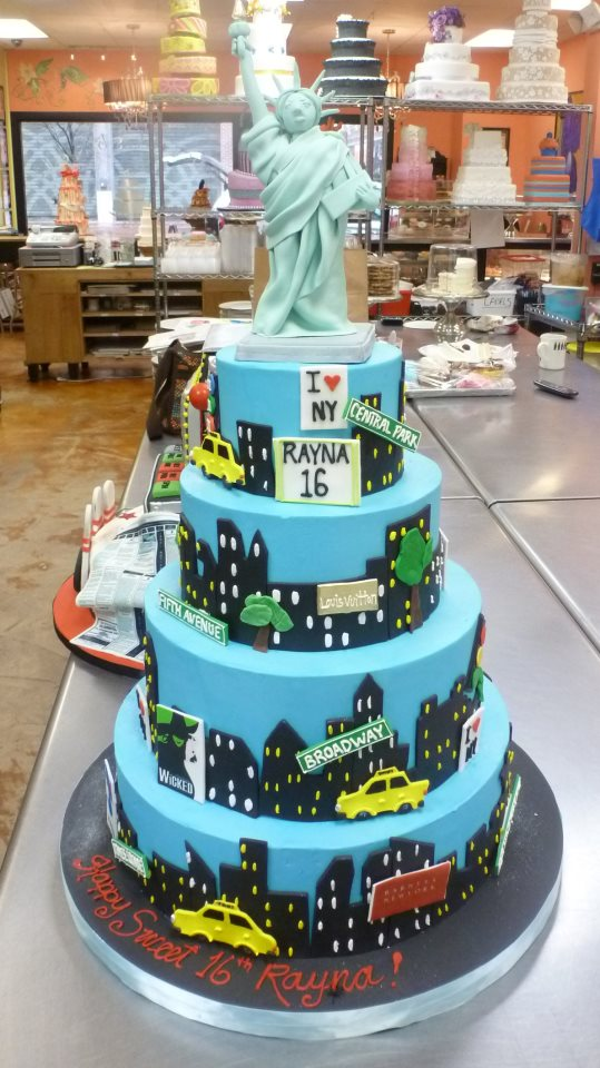 NY Statue of Liberty Cake