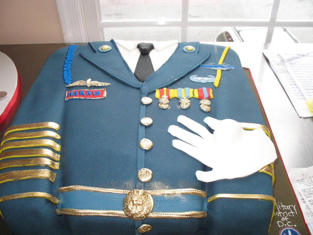 Military Jacket Cake