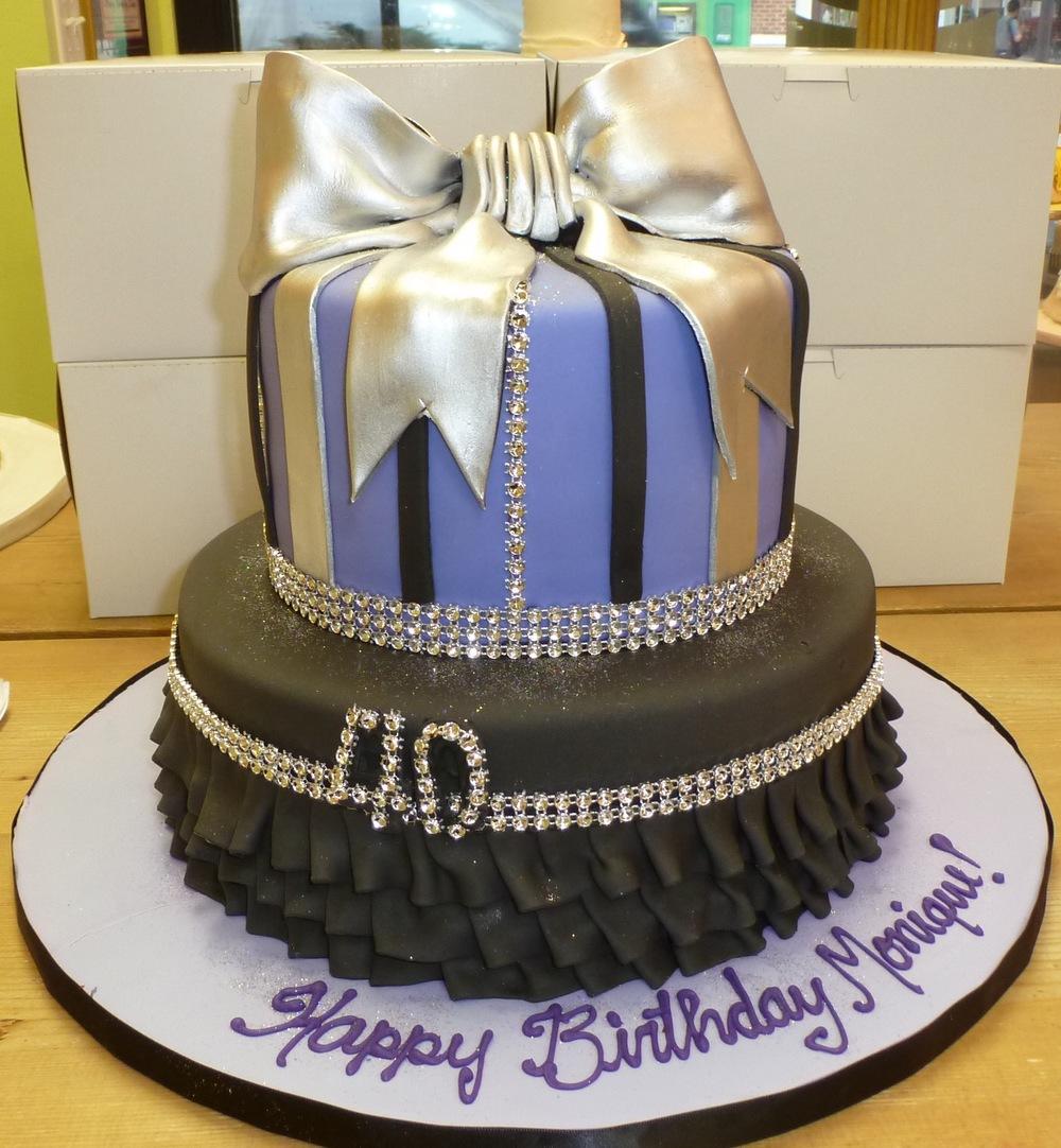 Ruffle funky birthday cake