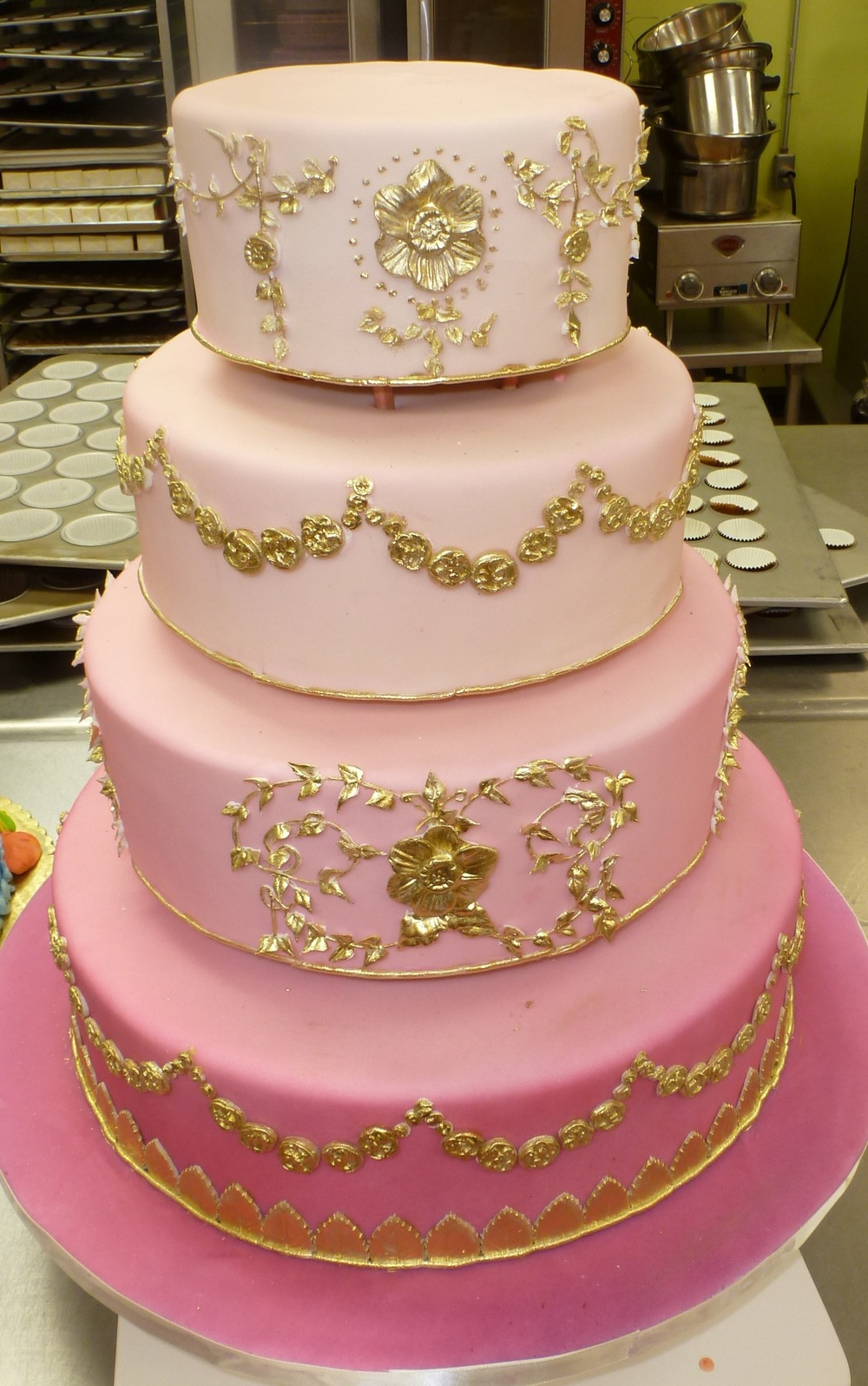 Pink Ombre Cake Design