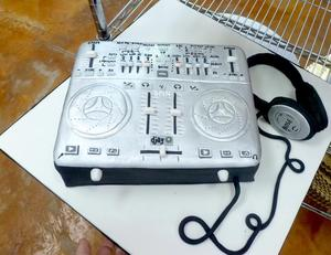 Musical cake with head phones