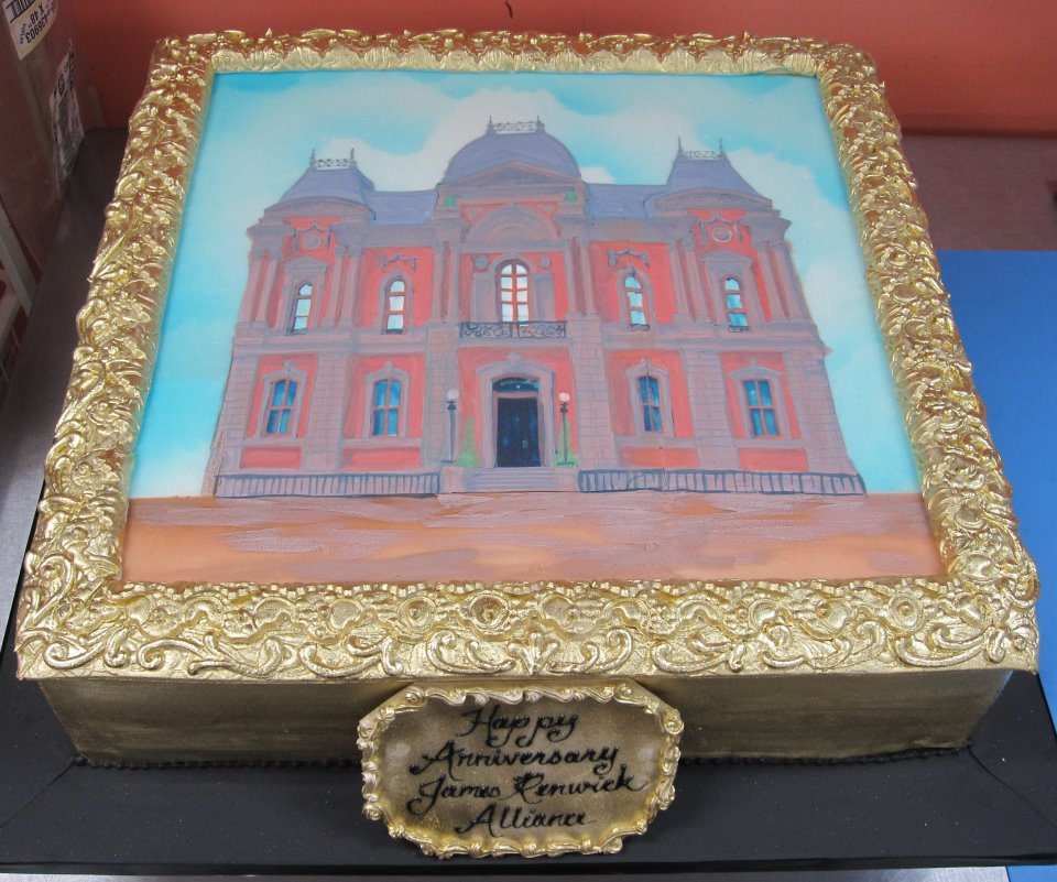 Painted Building Cake