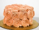 Rosette Peach Birthday Cake