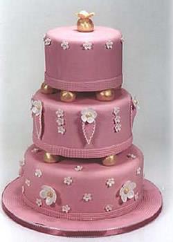 Precious Pink Birthday Cake