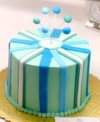 Blue stripe cake