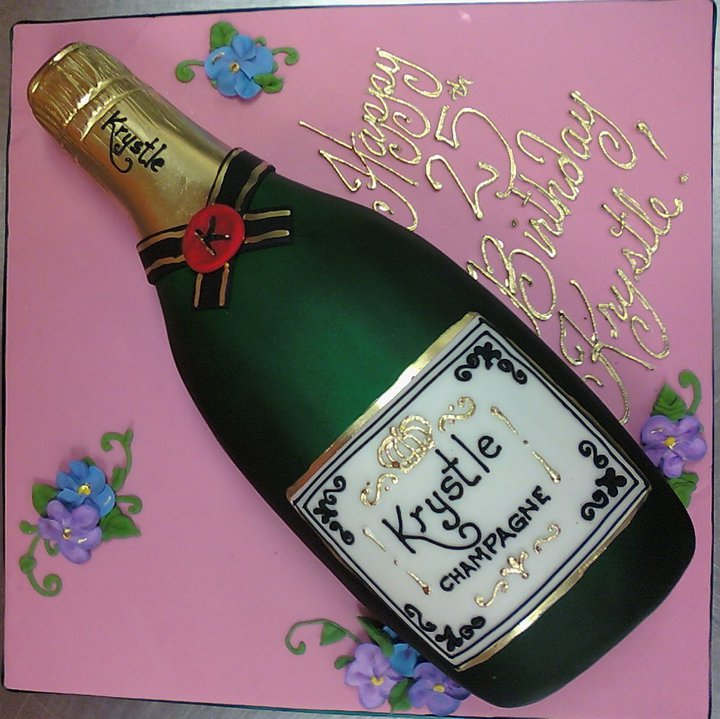 Champagne Groom's Cake