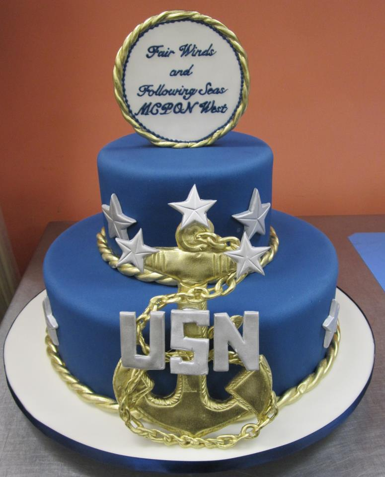 US Navy Cake with Anchor