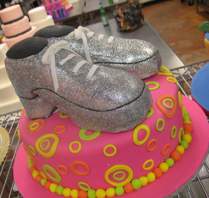 Disco Shoe Cake