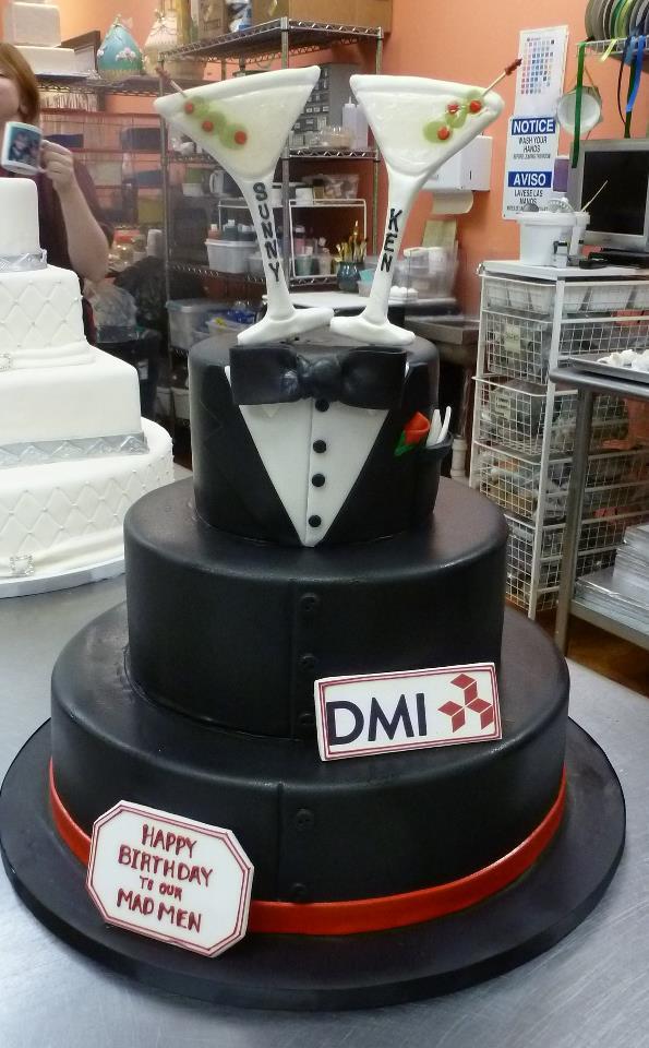 Men's Tuxedo  Martini Cake
