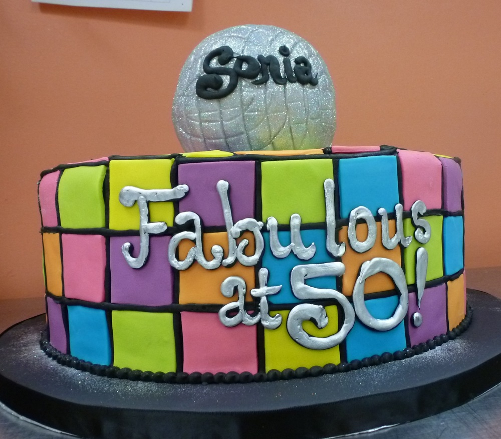 Disco Ball Birthday Cake