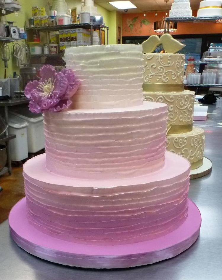 Wedding Cake with Ombre Design
