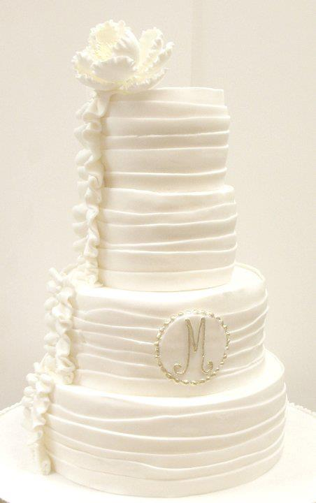 Wedding Cake with Ruffles