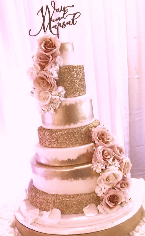 Cakes washington dc maryland md wedding cakes northern va virginia white and gold cake nbspmd dc va bakery fancy cakes by junglespirit Gallery
