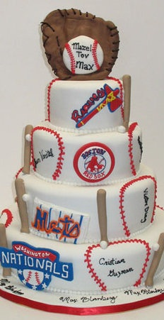 Baseball birthday cake