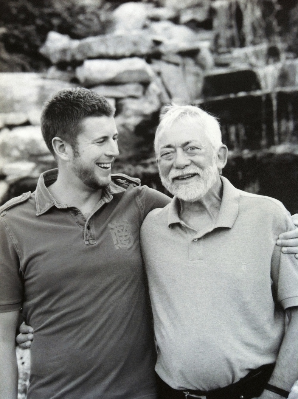 Thomas Daniel with Father, 2012