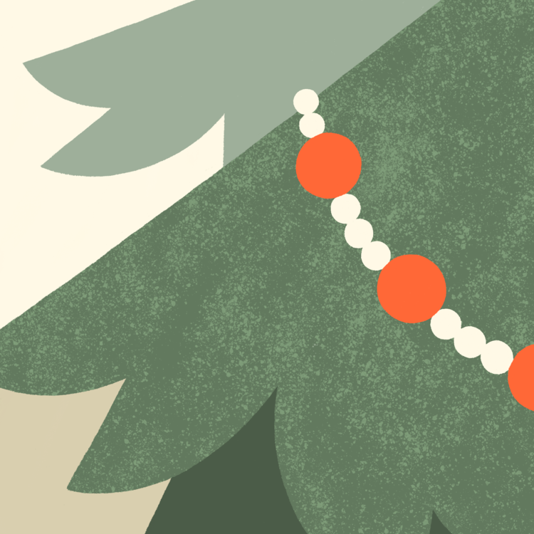 Christmas Tree Katie Deyoe Illustration Design