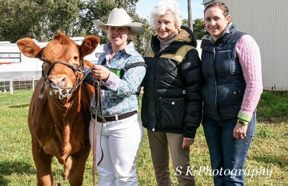 Rachel Relf Receiving the Longreach Most Potential Breeder Award 2016