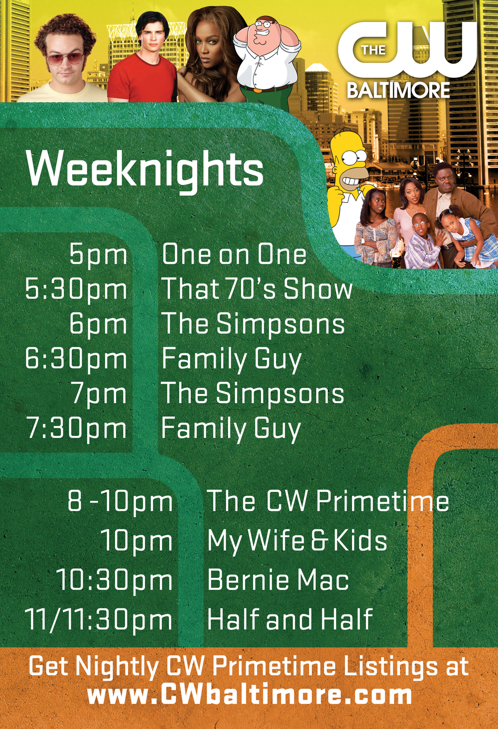 CW viewing schedule insert