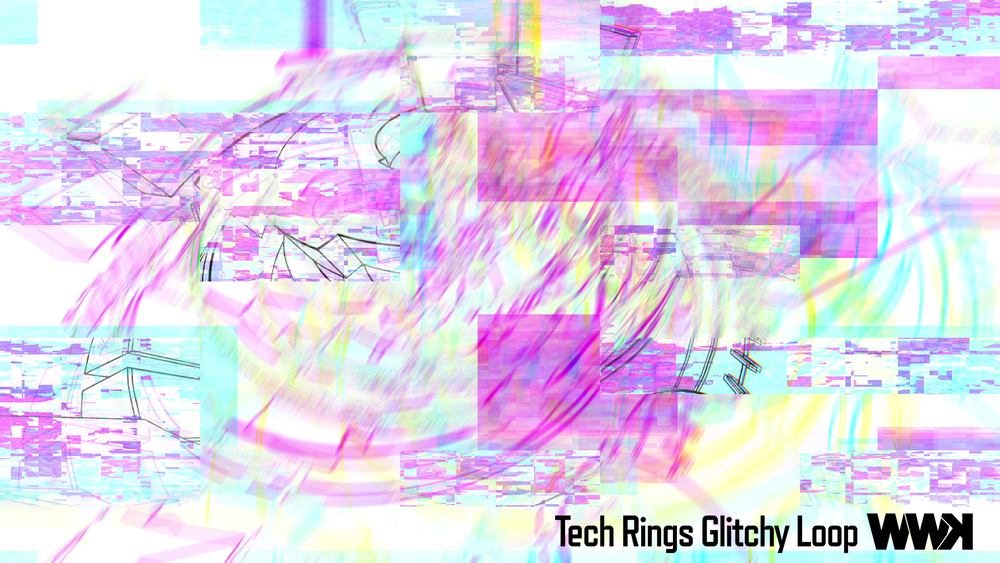 Tech Rings Glitchy Loop