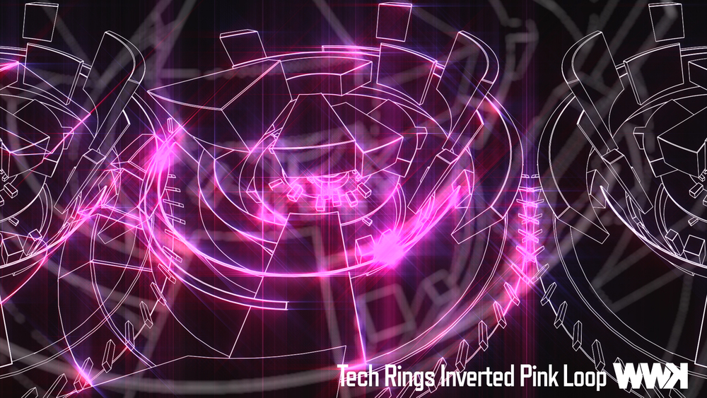 Tech Rings Inverted Pink Loop