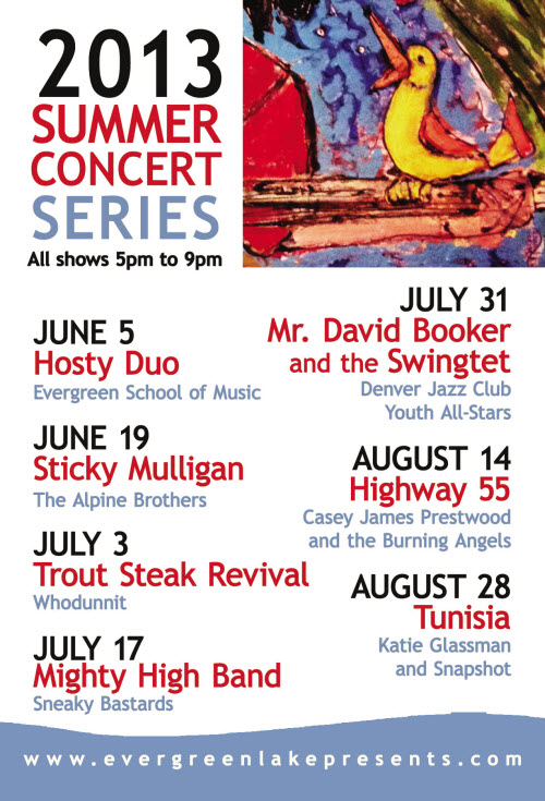 Preview of the 2013 Summer Concert Series Fridge Magnet.  Find one for your fridge next week!!