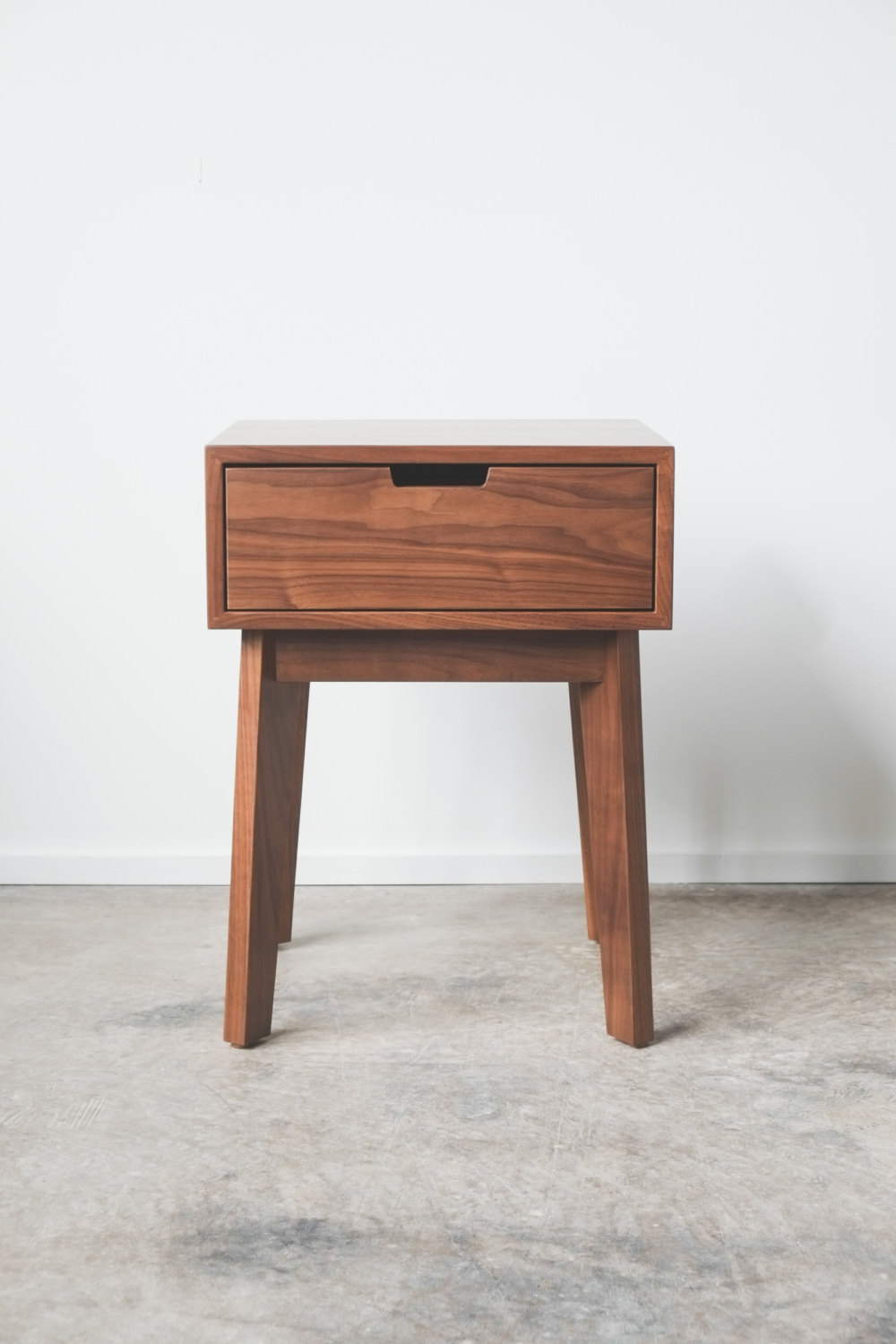 "Solid Walnut Ventura Nightstand / Bedside Table 19"" x 17"" x 25""  HEDGEHOUSE $599"