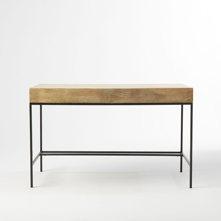 "Industrial Storage Desk 48"" x 24"" x 30""  WEST ELM $549"