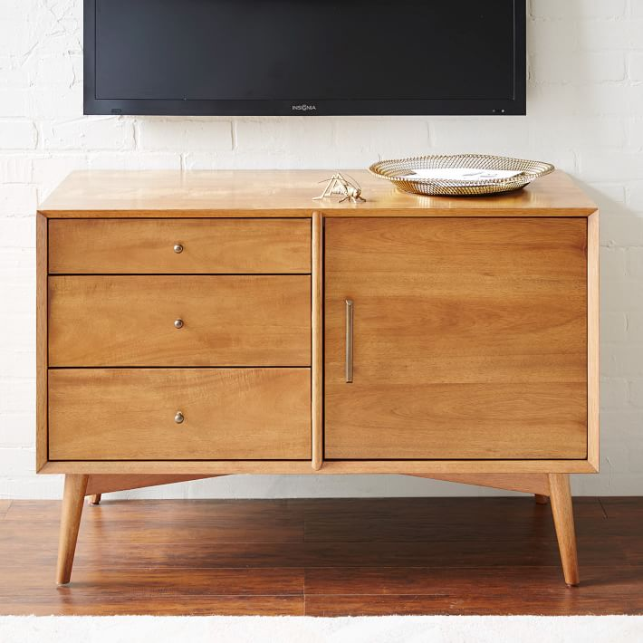 "Mid-Century Media Console 40"" x 19"" x 27""  WEST ELM $699"