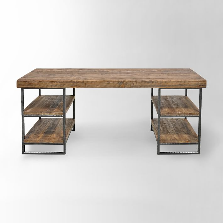 "Hewn Wood Desk 67"" x 23"" x 30""  WEST ELM $1199"