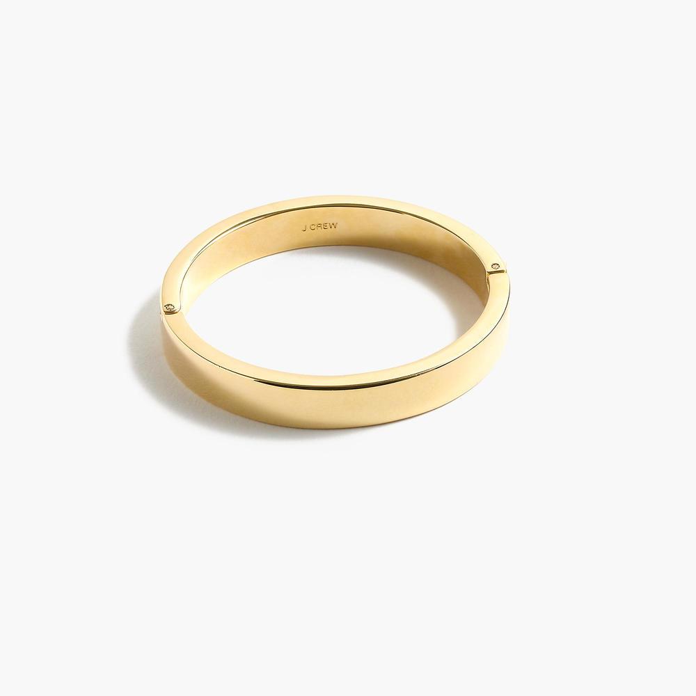 J.CREW Gold Plated Hinge Bracelet