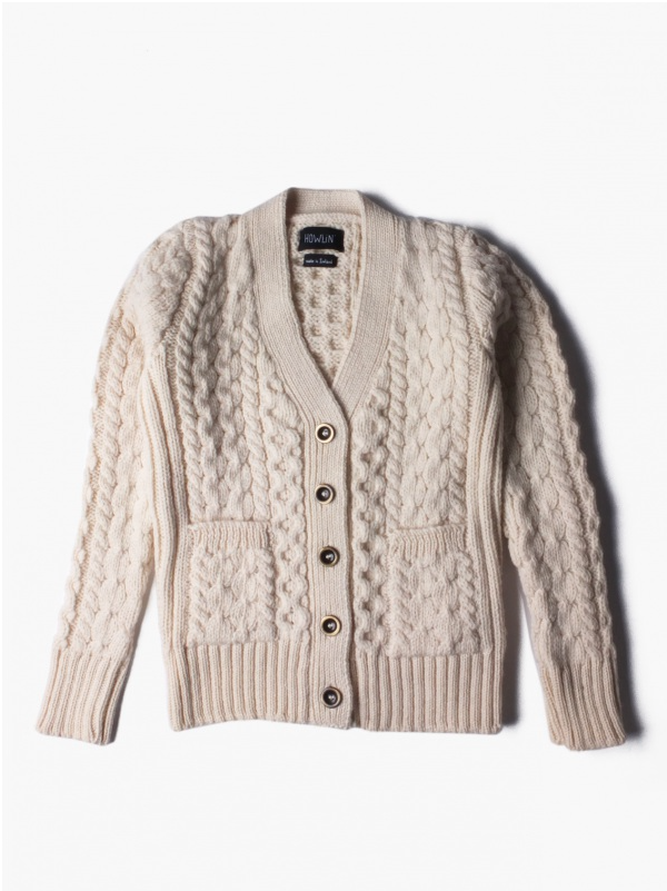 Wool Cardigan    Irish cardigan made from sumptuous wool with pockets and ribbed trims.   HOWLIN' $141