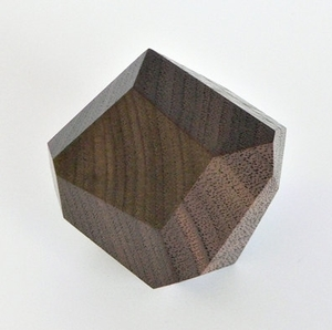 Engagement Ring Box   Geometric wooden walnut box lined with black fabric to hold your engagement ring.  WOODSTORMING $91