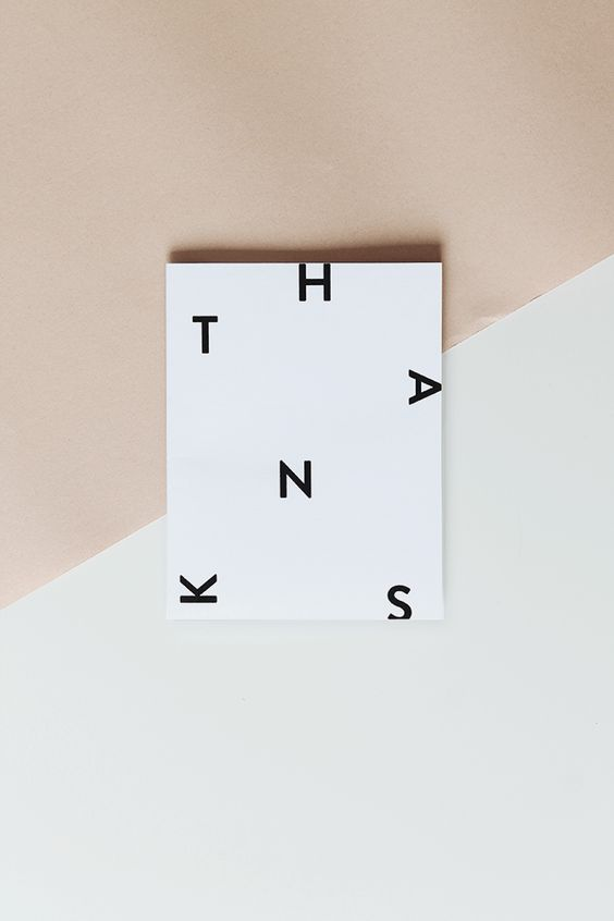 Printable Minimal Thank You Card by Almost Makes Perfect