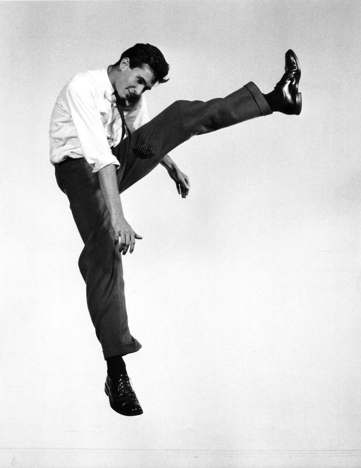 Philippe Halsman is known for his photographs of celebrities. In the fifties he was commissioned by a television network to photograph actors which gave him an opportunity to create his jump series. The subjects in his photographs capture the jumper's euphoric state in mid air which Halsman called jumpology. He published Philippe Halsman's Jump Book in 1959, which contained a tongue-in-cheek discussion of jumpology and 178 photographs of celebrity jumpers.