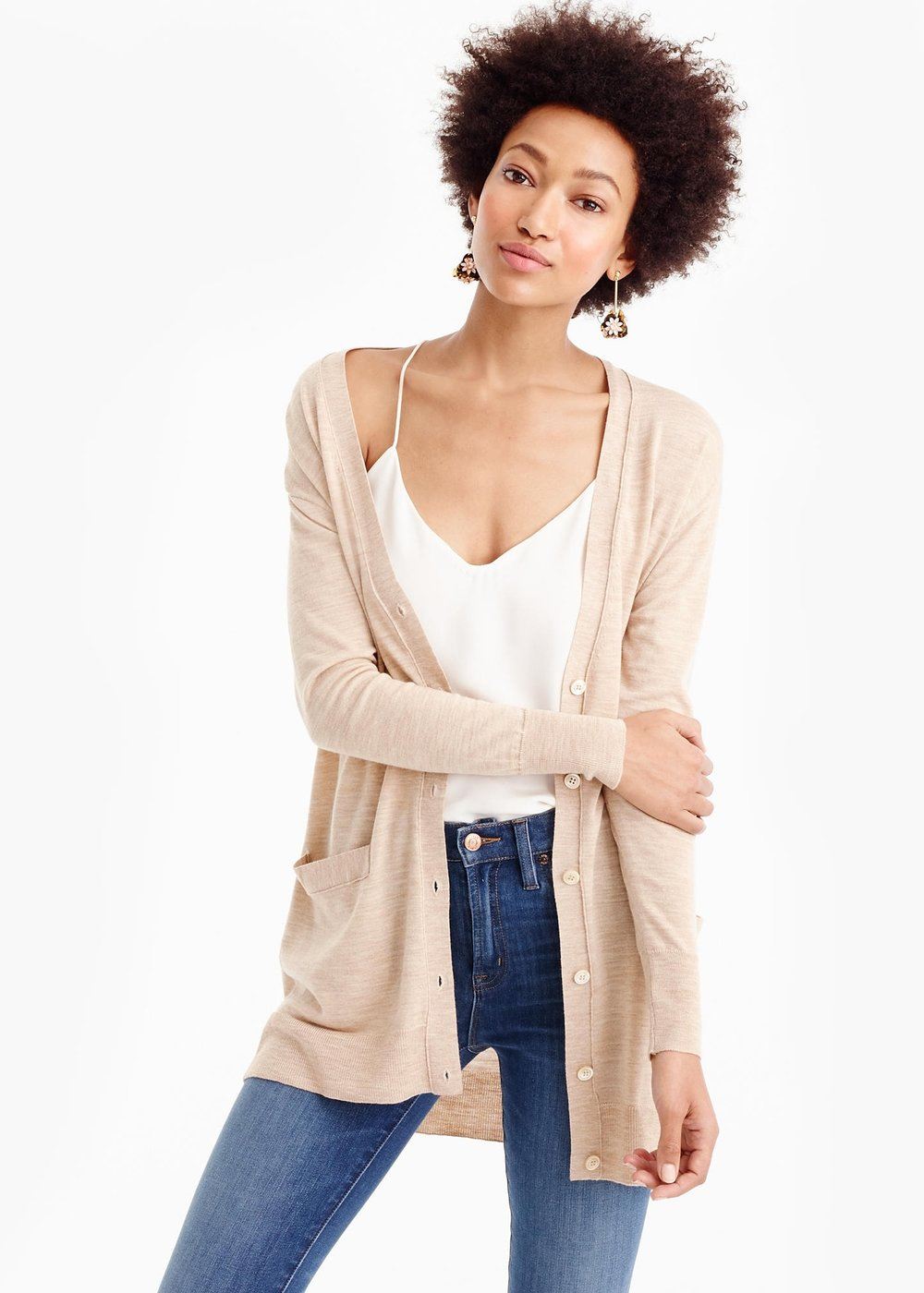Oversized merino wool cardigan