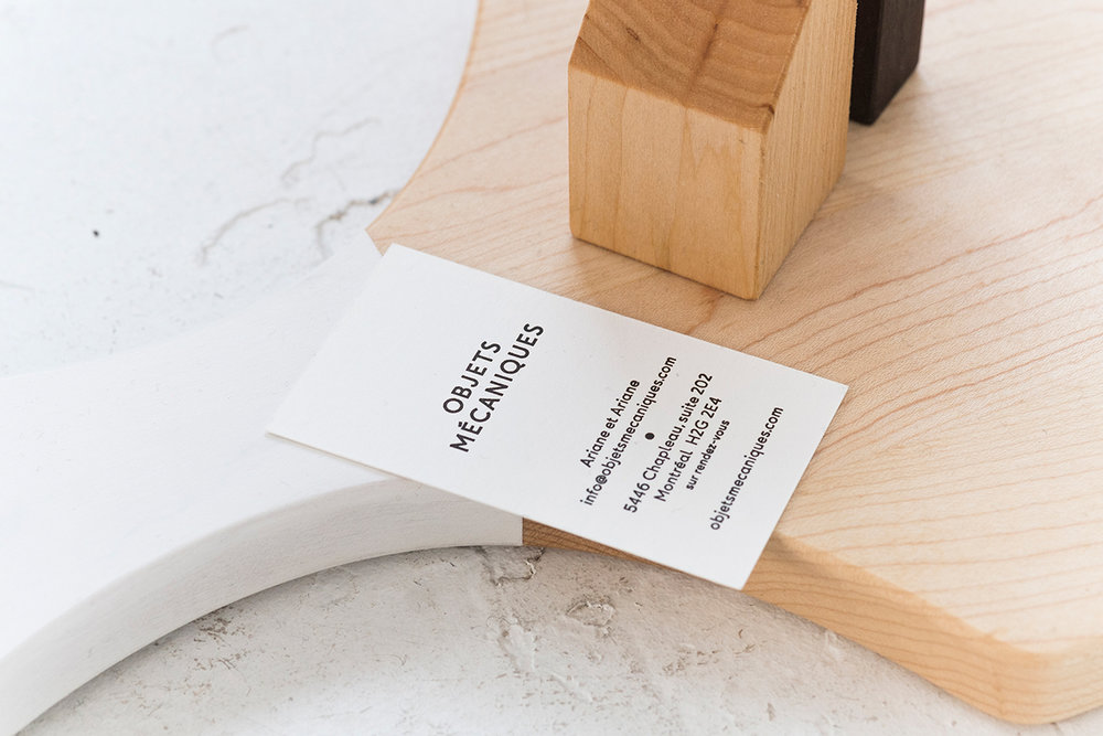 Montréal based graphic design studio  Nouvelle Administration  crafted a brand for  Objets Mécaniques   that contemplates its carefully handmade lifestyle products. Their simple and contemporary identity and collaterals reflect the company's slow design laboratory approach produced with reclaimed materials in modern design.