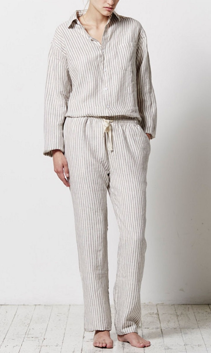IN BED Stripe Long Pant