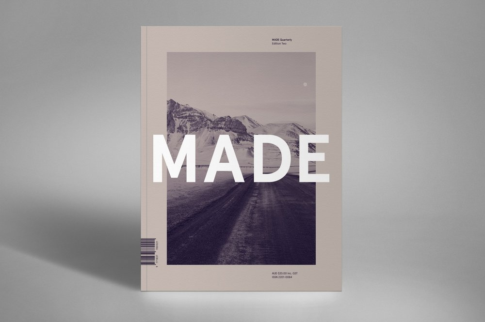 Made Quarterly  published its second issue featuring todays modern makers in design, architecture, interior, culinary, and product design and let us glimpse into the process and what transpires in their current projects.