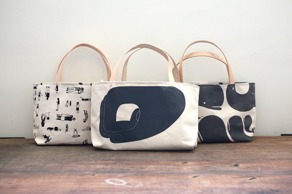 THINGS  Geoff McFetridge Canvas Totes  POTTOK PRINTS