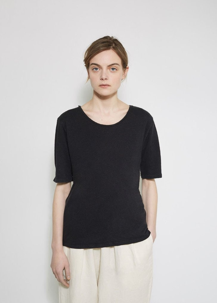 BLACK CRANE Back Seam Tee $23