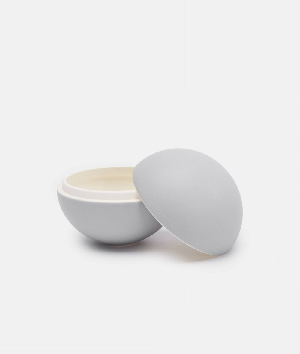 JULIE BONDE Matte Grey Spherical Lidded Container
